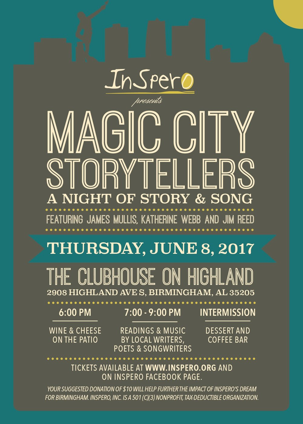 Hear from Local Birmingham Voices at the Third Annual Magic City Storytellers: June 8