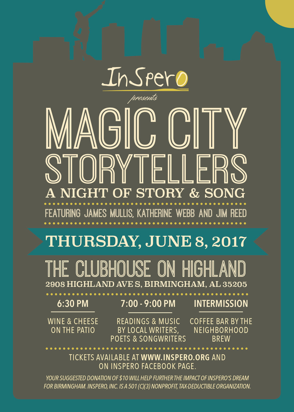 Stories That Transport Us: Hear These Birmingham Voices on June 8