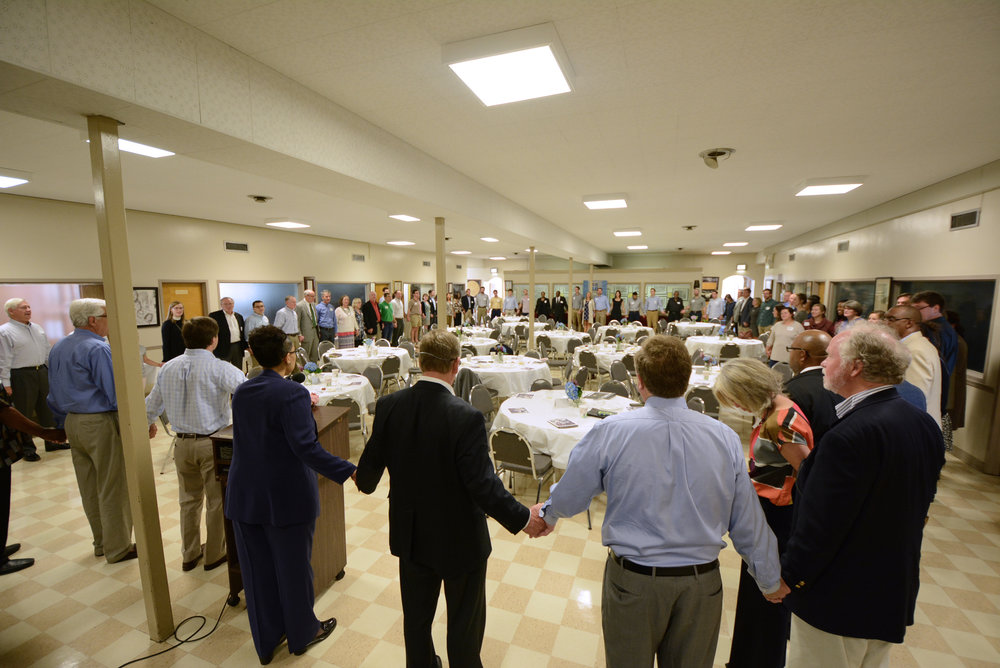 More than 100 gather to pray for our city at 16th Street Baptist Church. Photo by Josh Vigneulle
