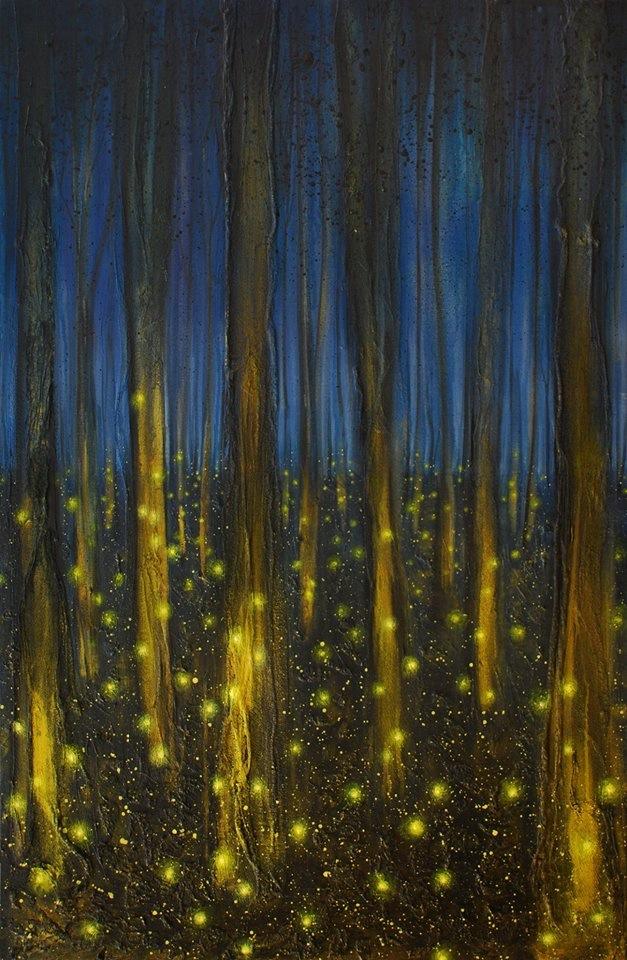 "Artist: Amy Grimes, ""Light in a Dark Forest"""