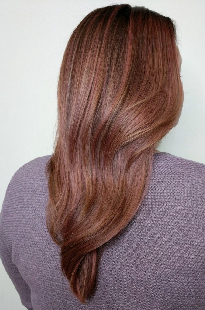 woman with dark hair seen from back