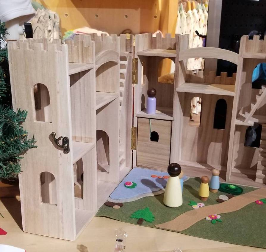 Peek-a-Boutique wooden castle from Little Wolf