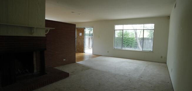 Unfurnished room before renovations