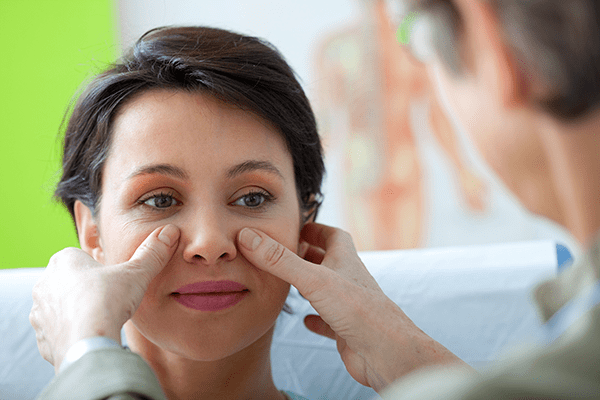 A trained ENT specialist is able to diagnose your conditionpressure, pain and postnasal drip