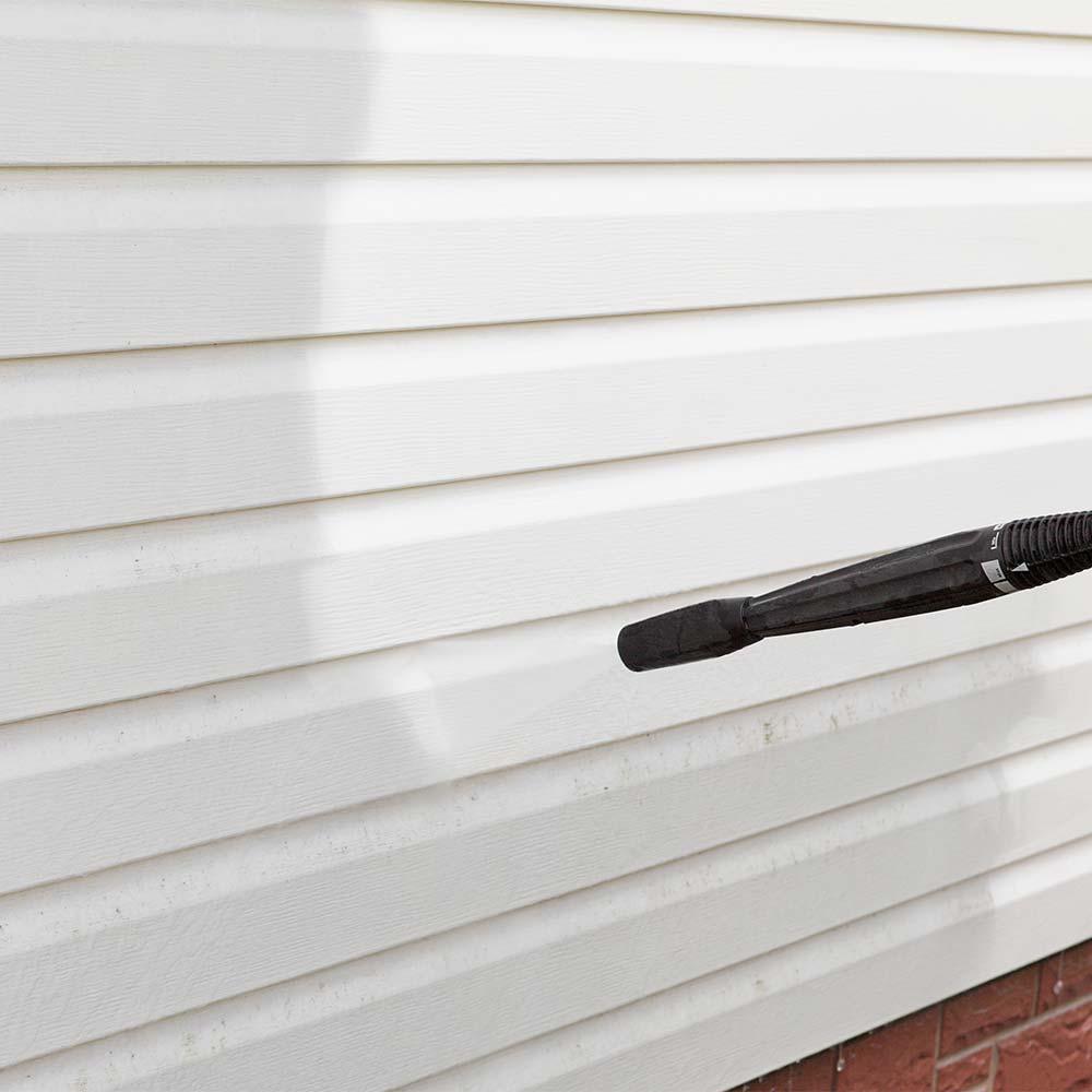 Soft washing home exterior