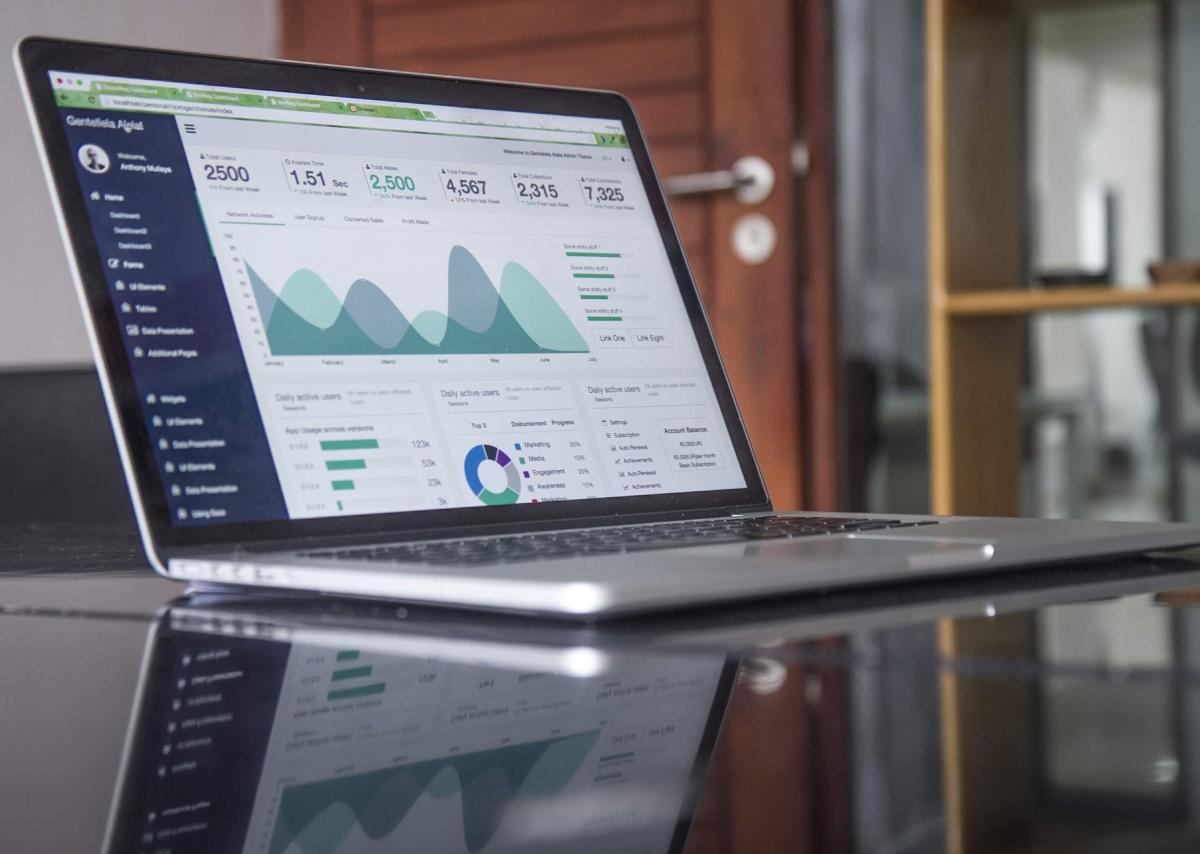 Interactive analytics dashboard