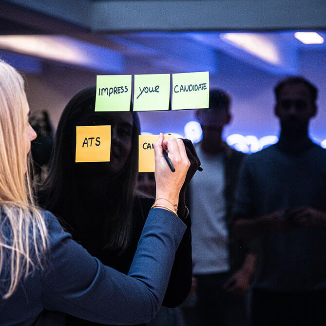 Vaqancies UX workshop met post-its