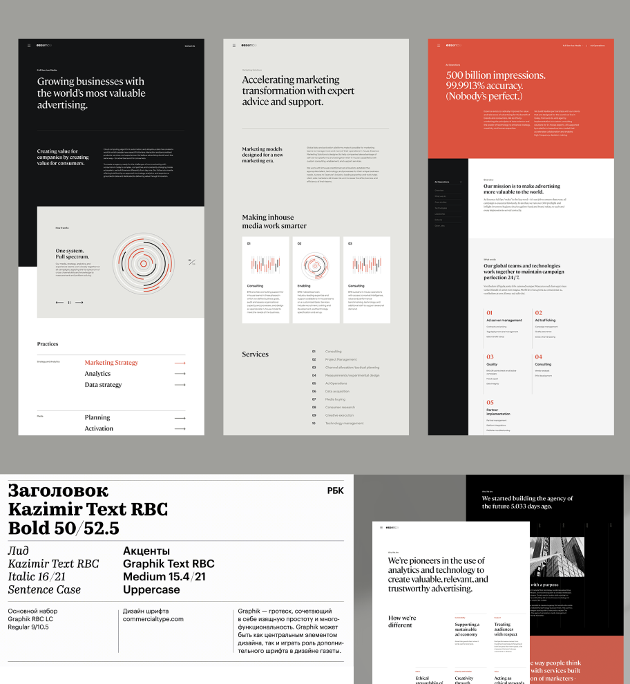 layout and references for finance magazines concept
