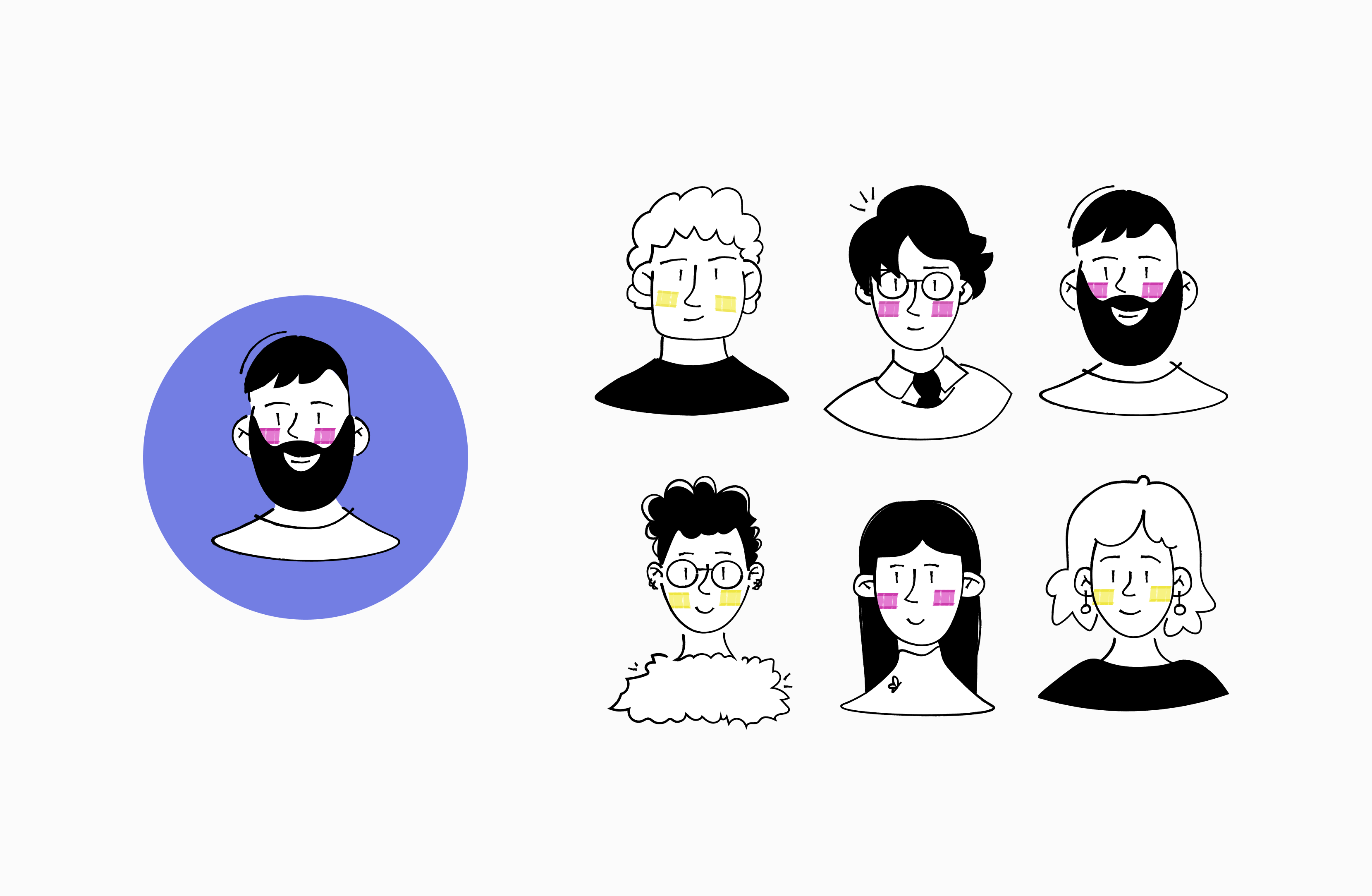 avatars for LaborX by Embacy
