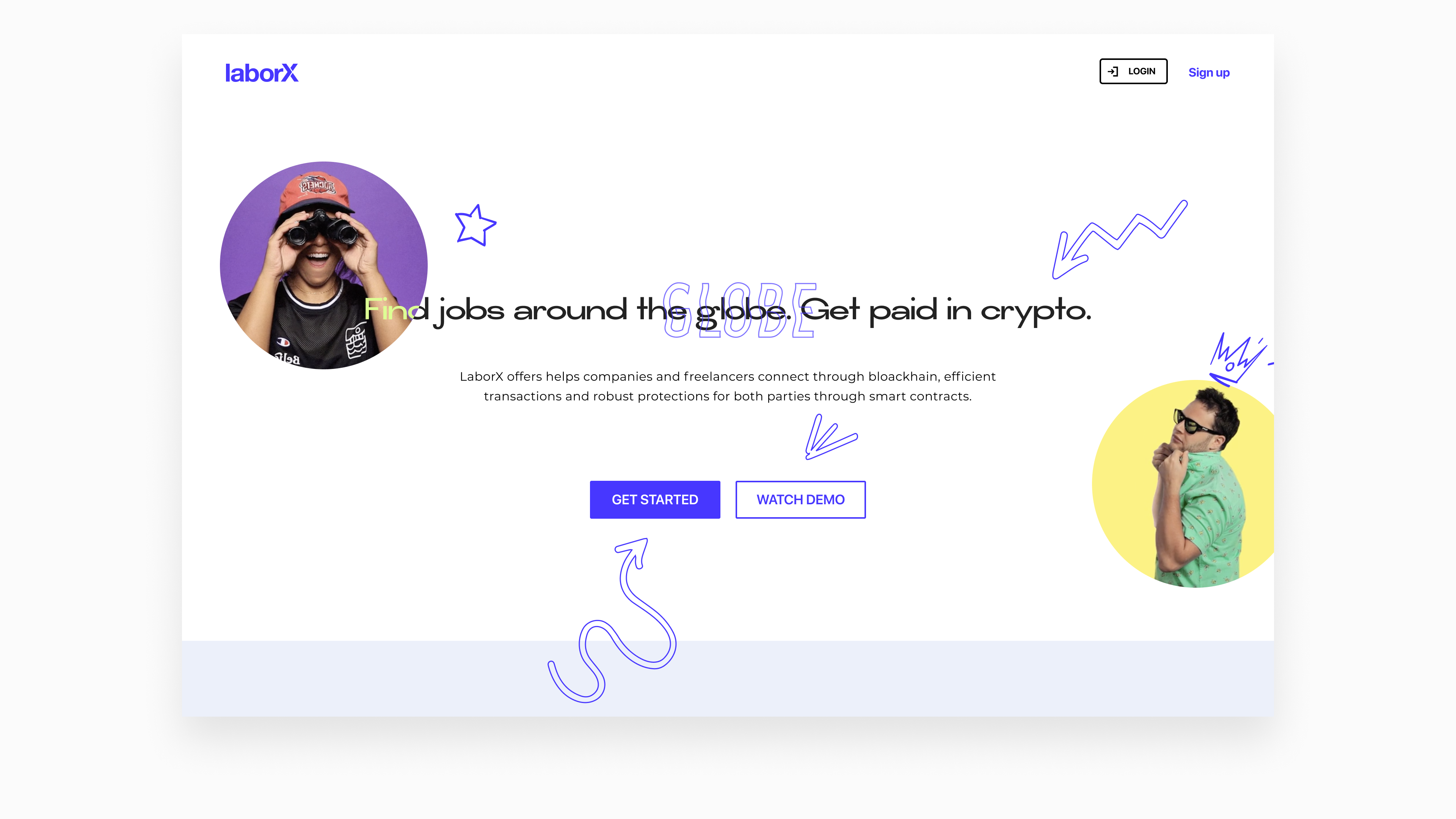 lineart concept for LaborX website by Embacy