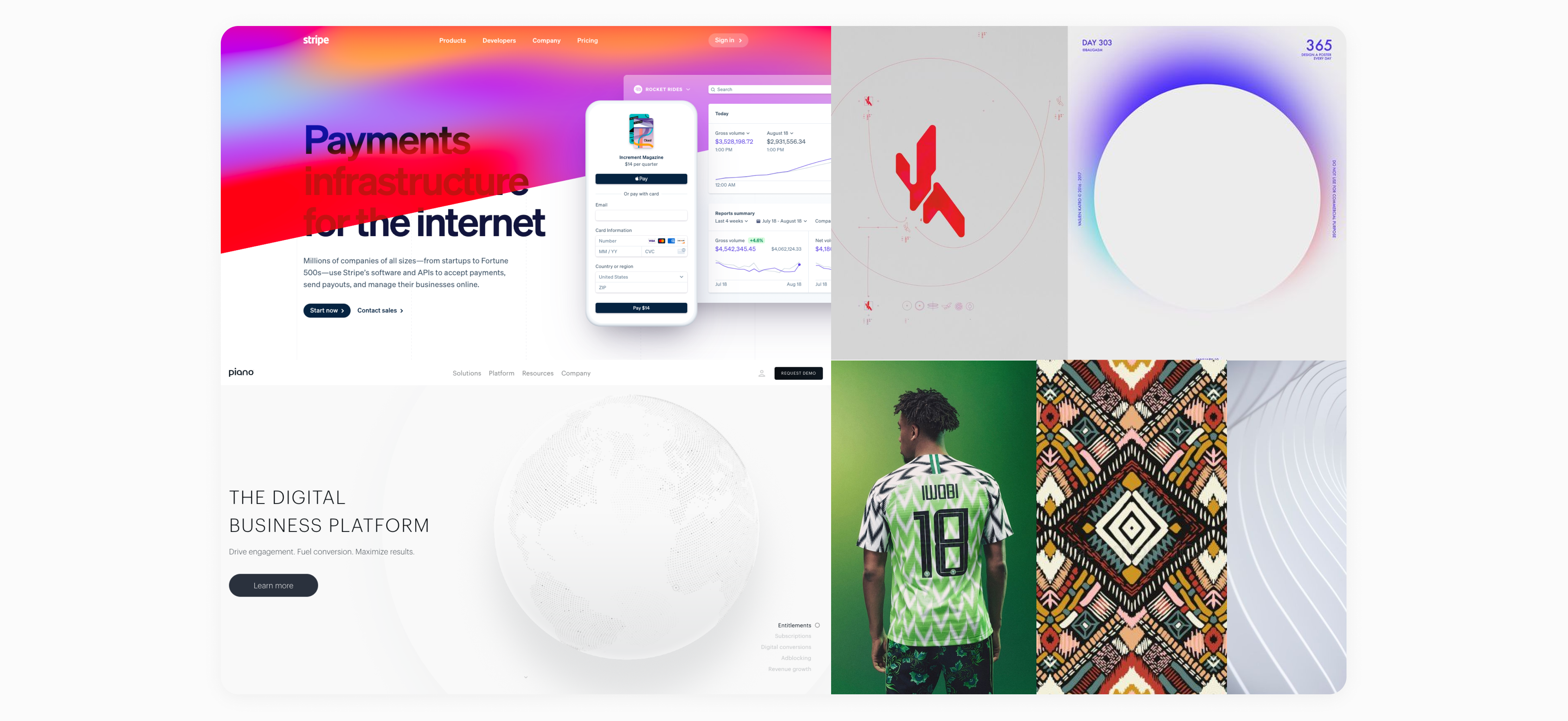 digital african patterns website concept by embacy