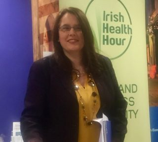 Me speaking at Women's Inspire Galway social media round up january 2017