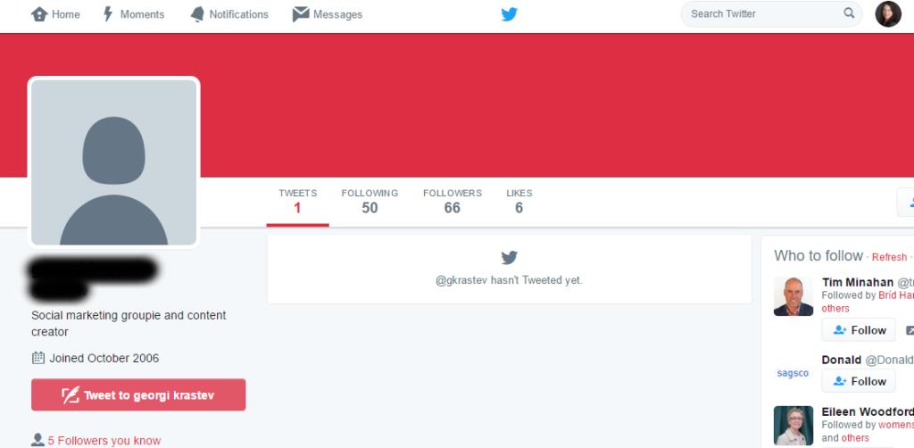 fake follower bio to twitter