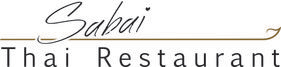 Logo of Sabai Thai Restaurant showing wordmark and line