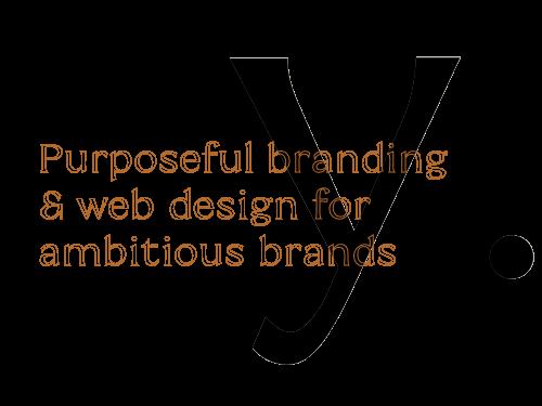 Purposeful branding & web design for ambitious brands text