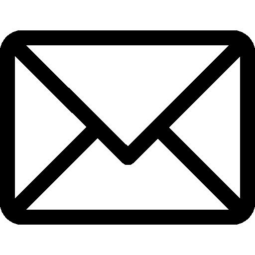 schwarzes E-Mail Icon