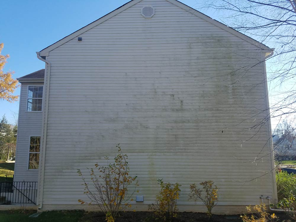 Pressure washing cleaning project before, Columbia MD