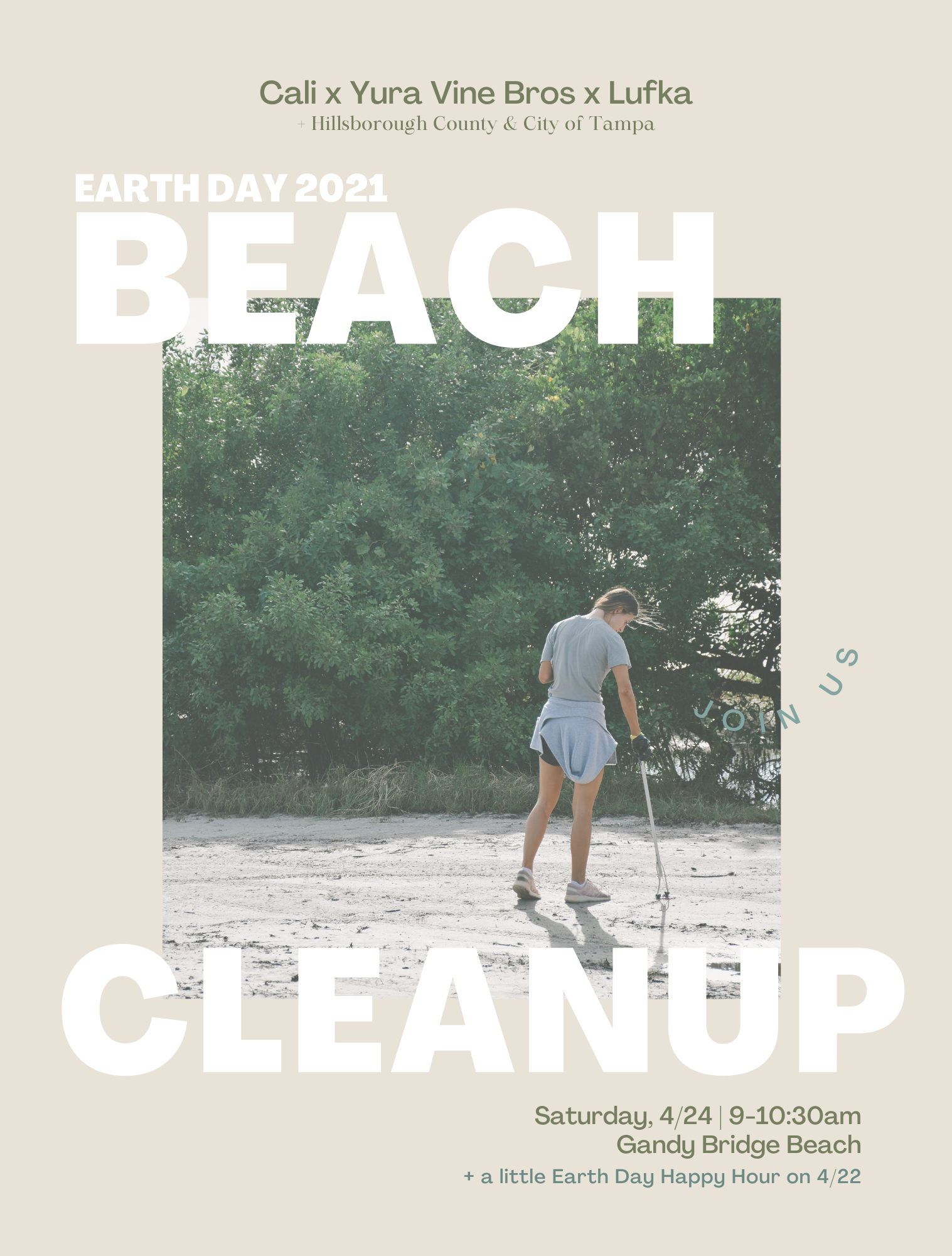 Earth Day Cleanup + Happy Hour