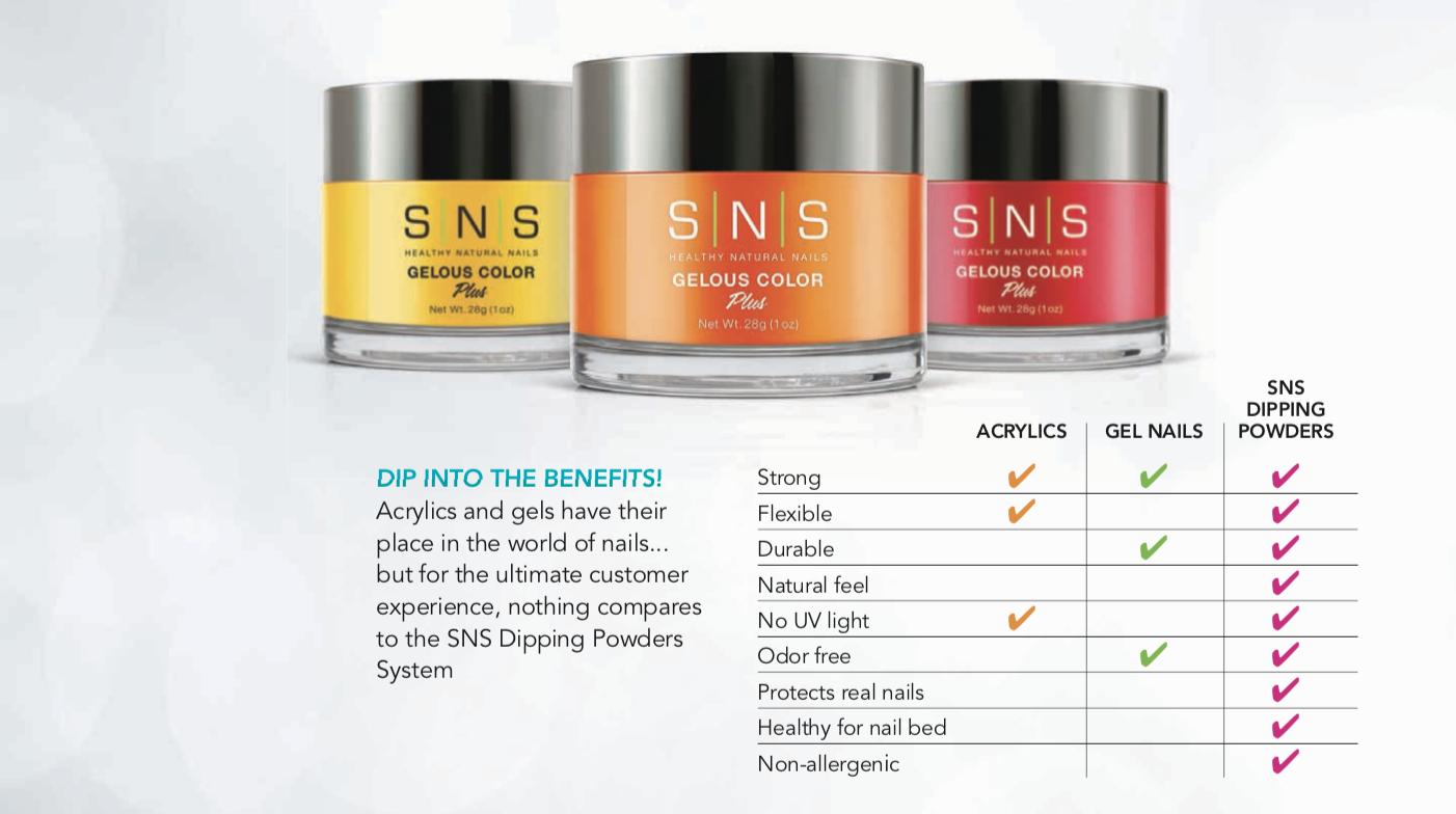 sns nails benefits dip powder manicure