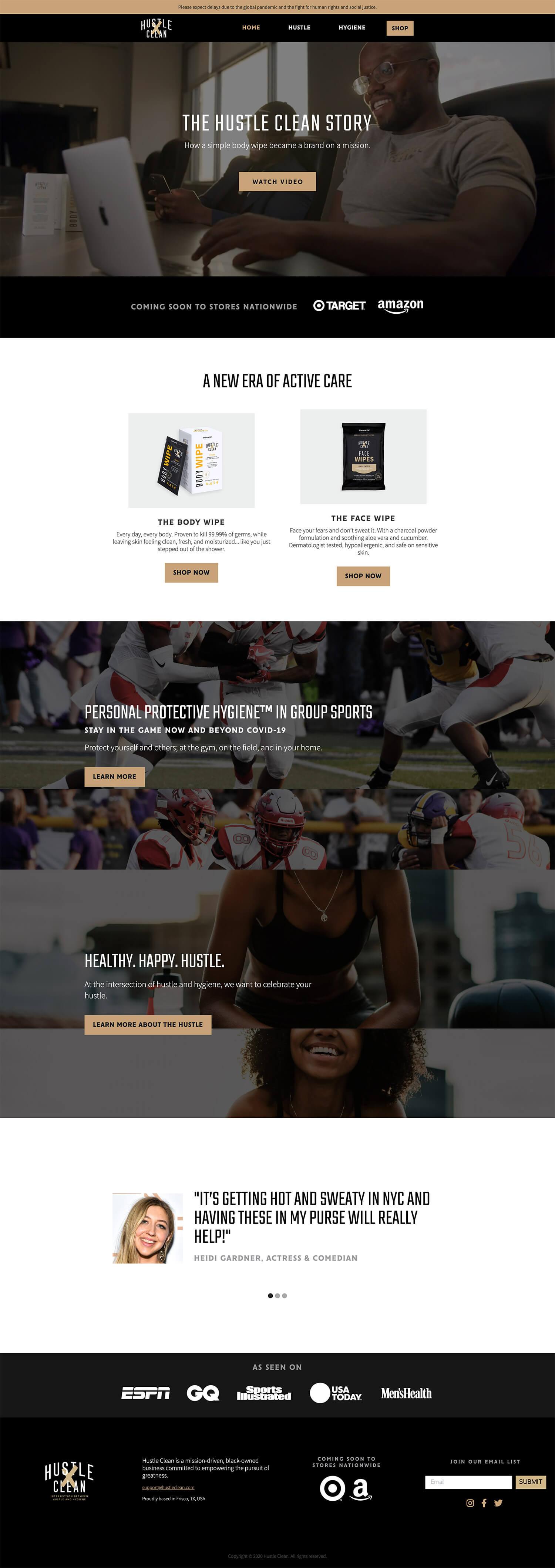 Hustle Clean website design