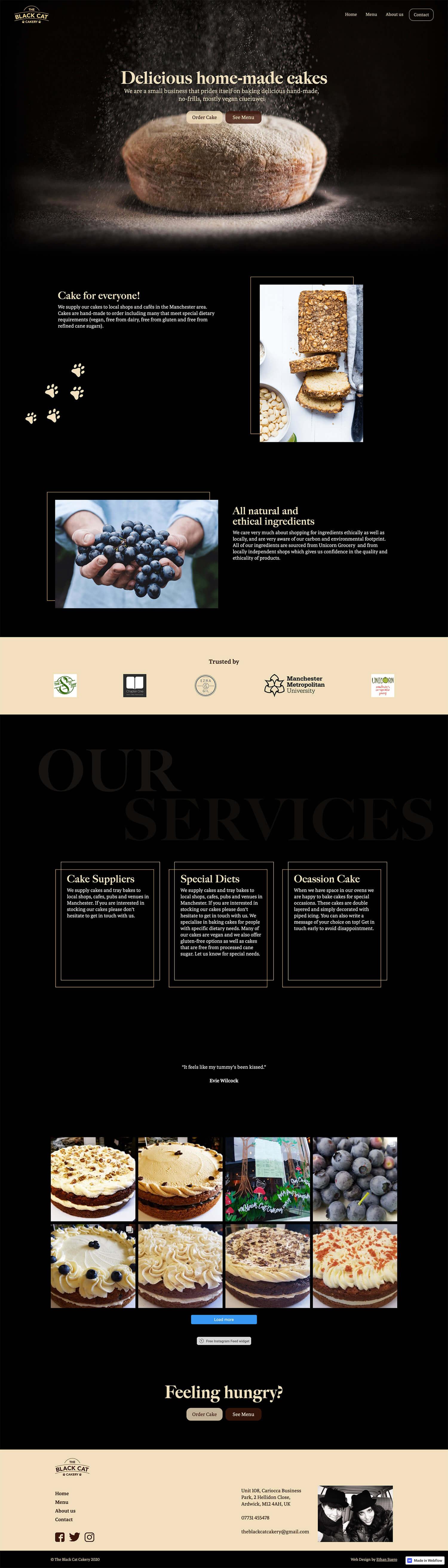 Cakery website design