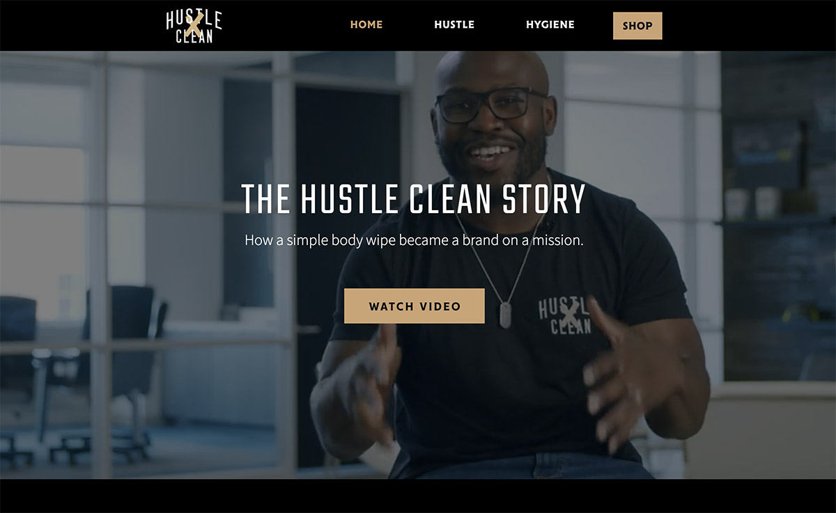 Hustle Clean website design