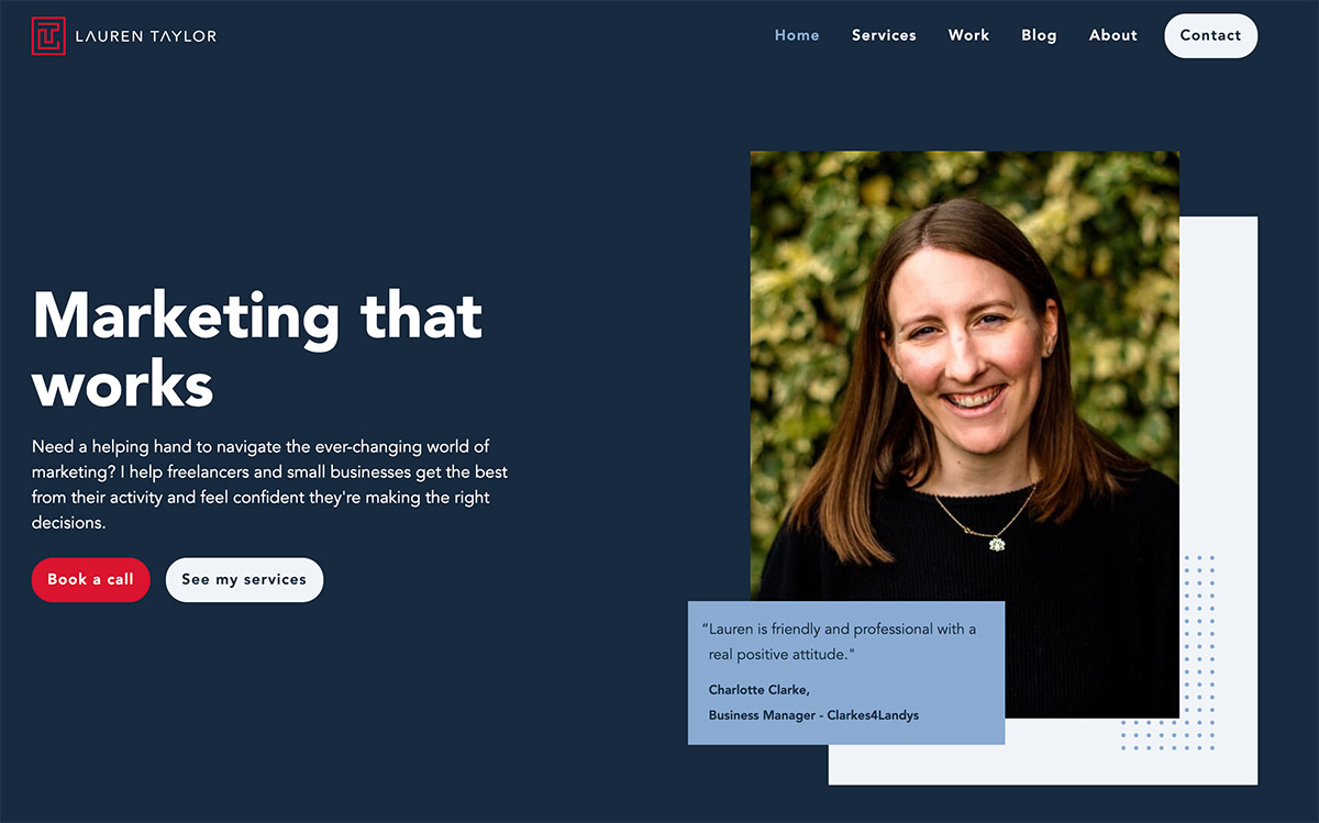 Lauren Taylor website design