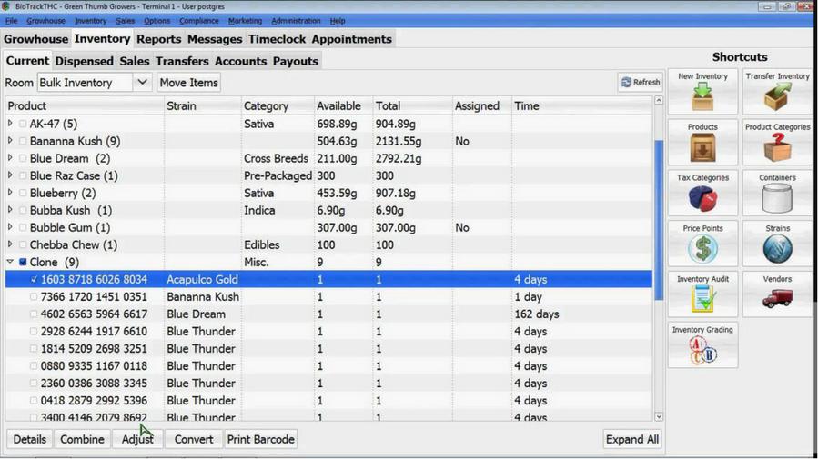 Biotrack screenshot