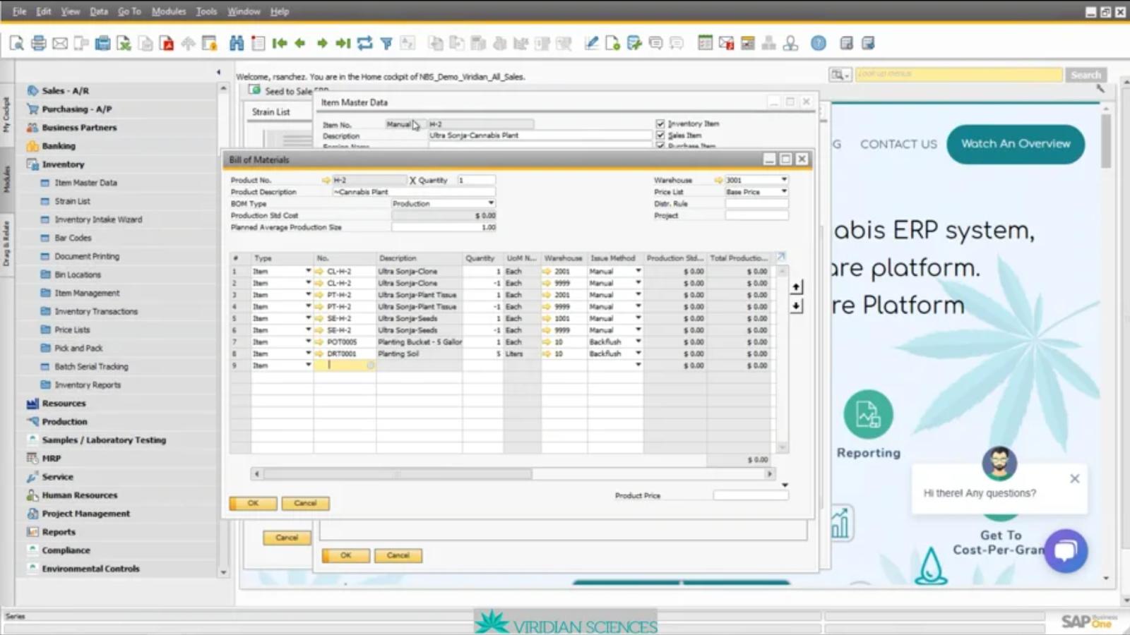Viridian Sciences Product Screenshot