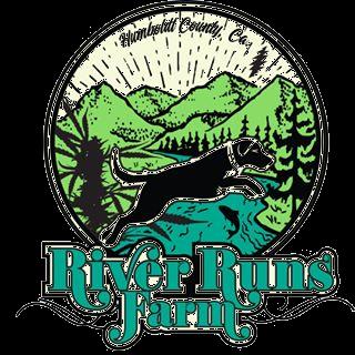 River runs farm logo