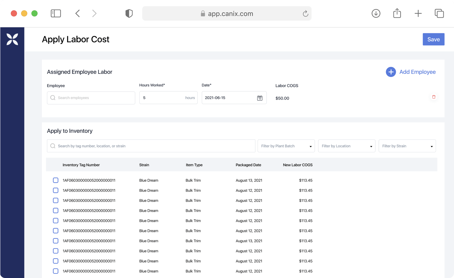 ERP Labor tracking