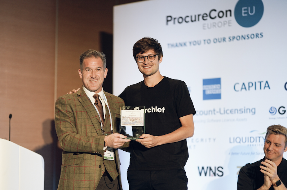 Archlet wins the ProcureCon 2019 Startup Tech Award