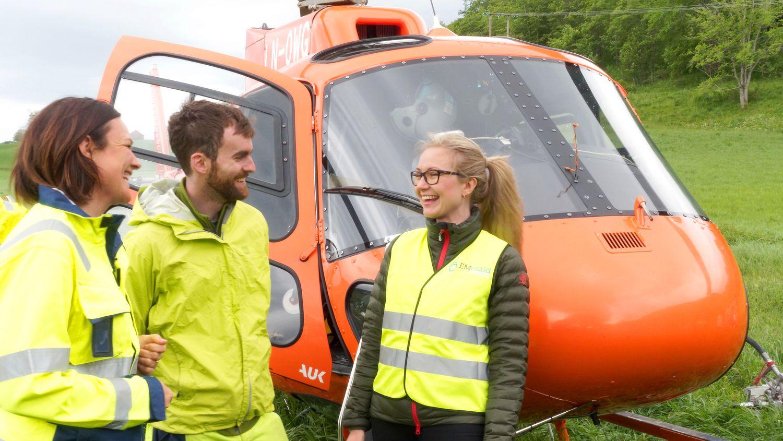 Bruker helikopter og elektromagnetisme: Reduserer boring langs nye E6