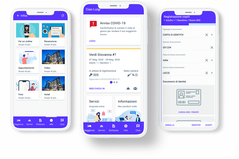 Digital concierge per hotel