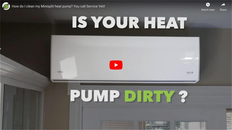 Heat Pump Cleaning Video Thumbnail