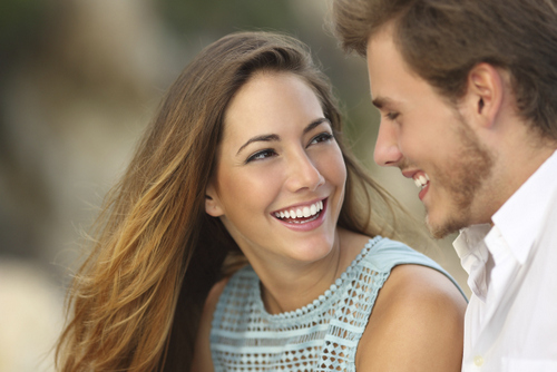 Young couple with cosmetic dental work from Shenandoah Family Dentistry