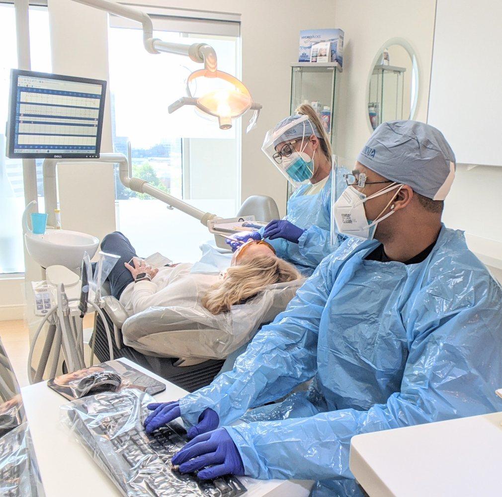 Dental Hygenists Working