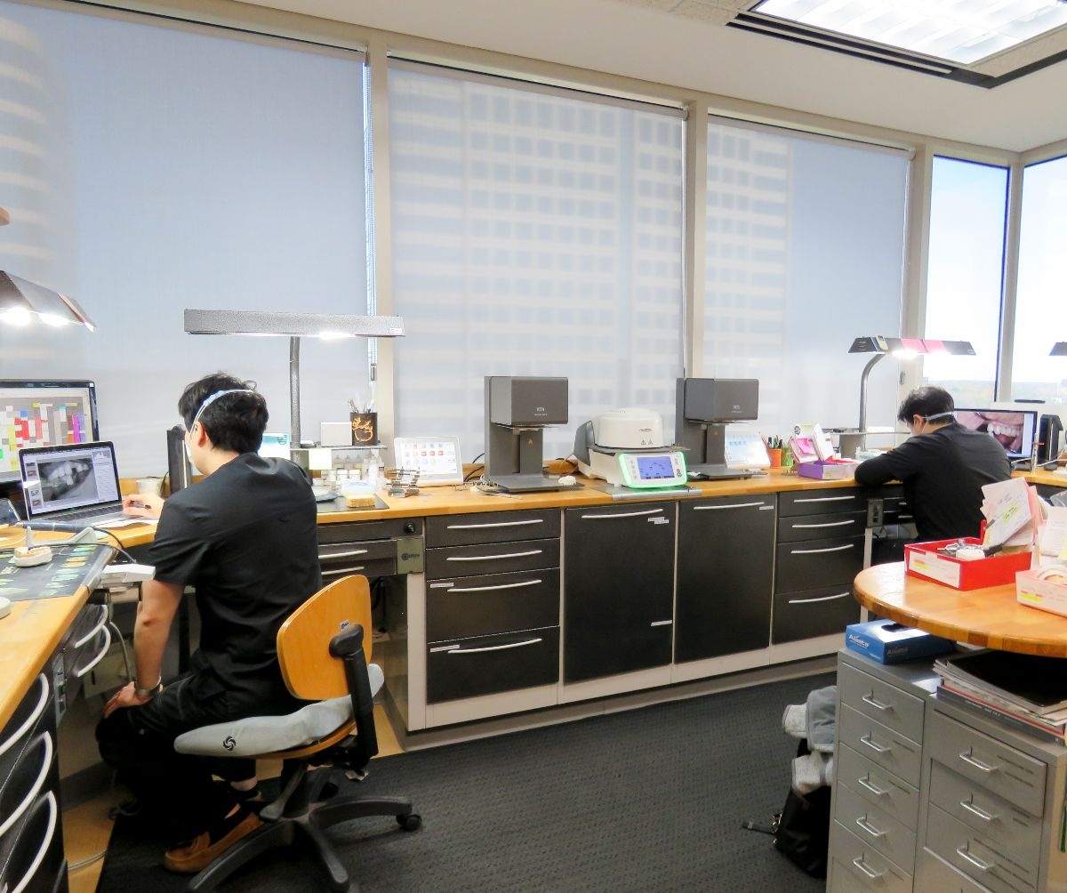 workers in house lab