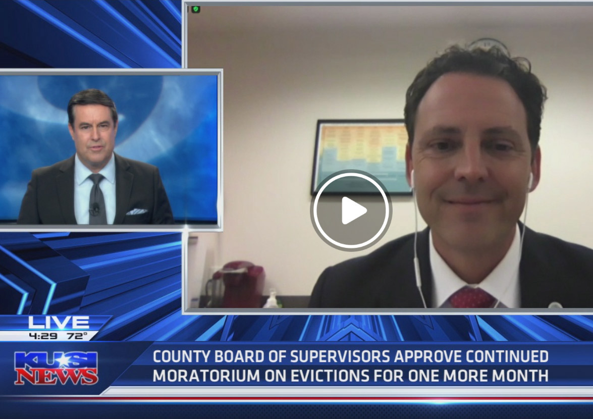 Supervisor Nathan Fletcher opposes Board's approach to reopening, supports extending eviction moratorium