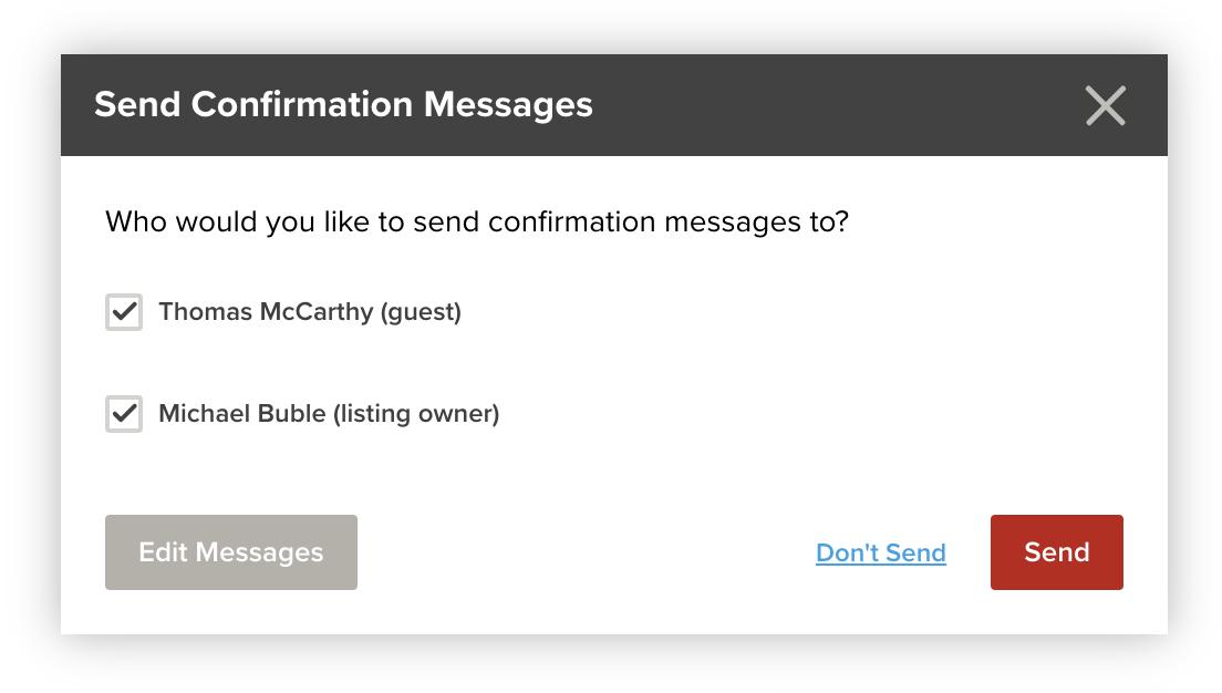 Send Confirmation Messages