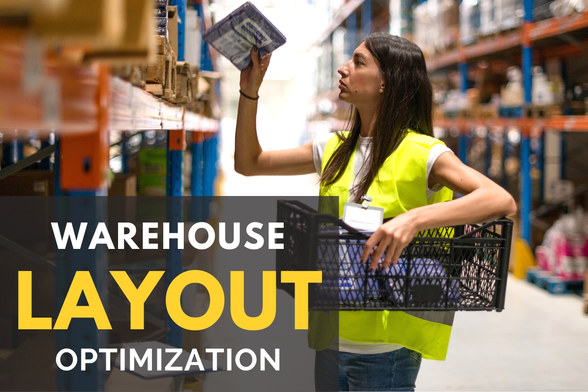 Woman working in a warehouse - Warehouse Layout Optimization
