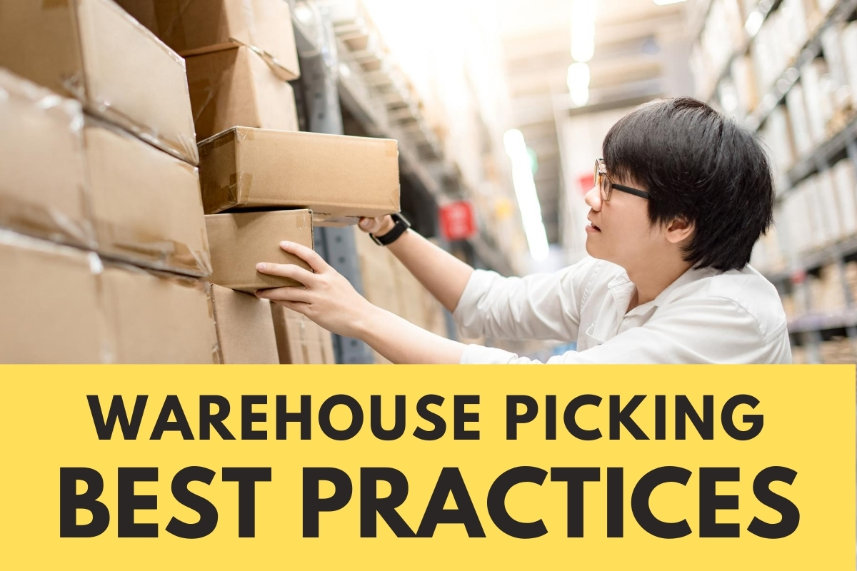 Man picking a box from the warehouse - Warehouse Picking Best Practices