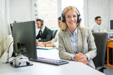 Woman working as a customer service