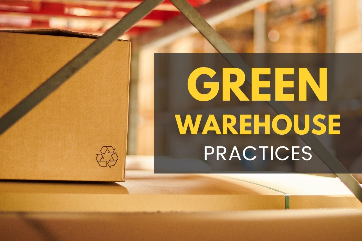 Box with the recycle symbol inside a warehouse - Green Warehouse Practices