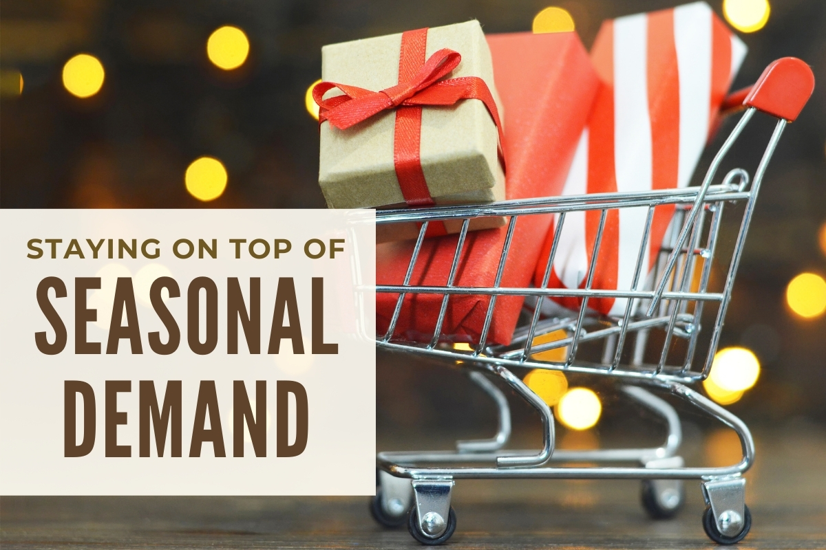 Cart filled with gifts - Staying on Top of Seasonal Demand
