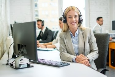 Woman working as a customer service agent