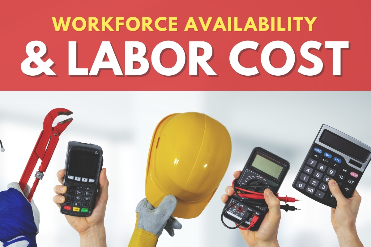 Hands representing workforce - Workforce Availability & Labor Cost