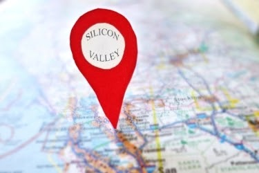 Location on a map - Silicon Valley