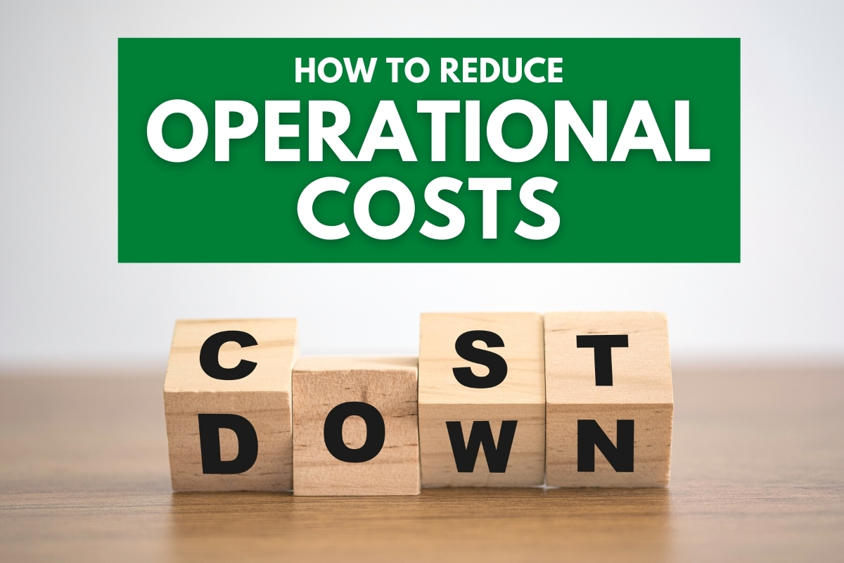 "Wood cubes that spells ""Cost Down"" - How to Reduce Operational Costs"