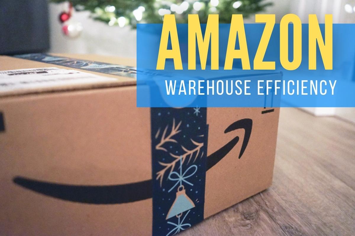 Amazon box Close up - Amazon Warehouse Efficiency